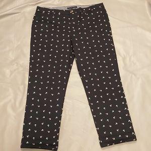 Tommy hilfiger pink & grey anchor pants